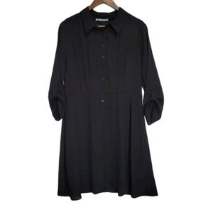 Maurices Collared Black Dress with Lining …